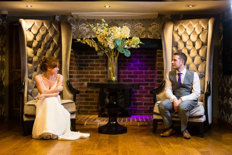 Wedding photos at Old Thorns hotel with Dan and Stacey